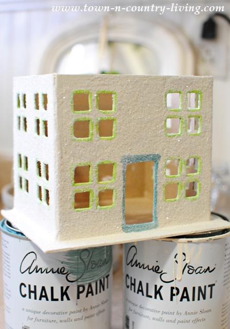 DIY Paper Mache Glitter House