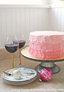 Wintermint Cake with Ombre Frosting