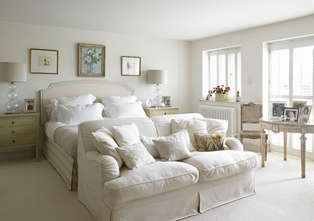White Bedroom in a Cottage Home