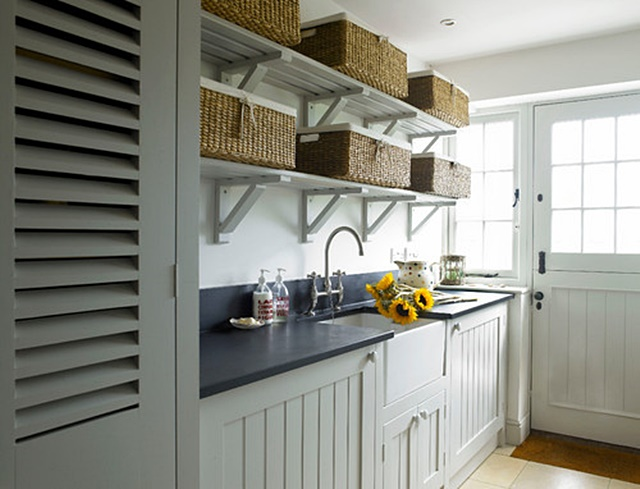Farmhouse Style Laundry Room in a Cottage by the Sea