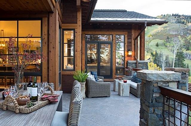 Deck at Ski Lodge