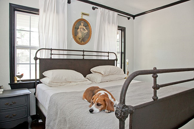Victorian Metal Bed - Perfect for a Dog Nap!