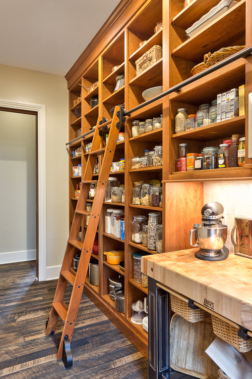 Wall of Kitchen Shelving