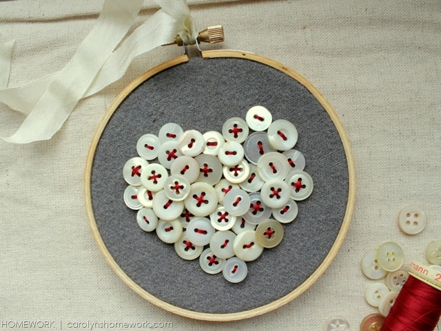 DIY Button Heart