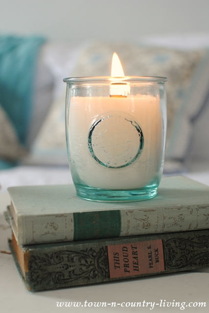 Cozy Decorating with Homemade Candles