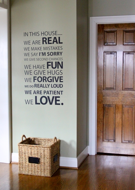 Foyer Wallpaper Quotes : Love of home charming tour town country living