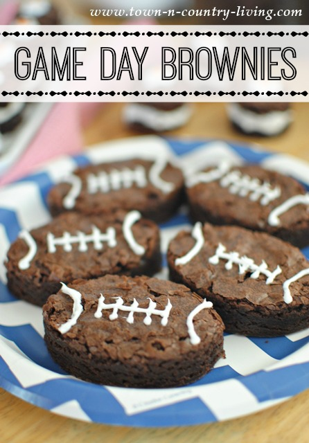 Game Day Football Brownies