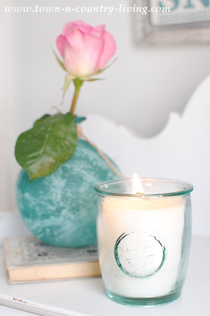 Homemade Scented Candles in a Jar