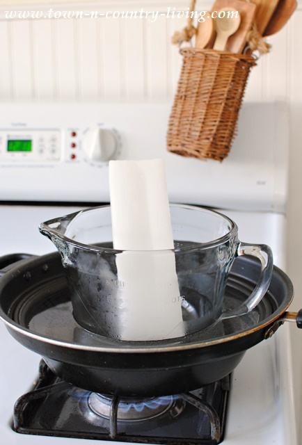 Melting Candle Wax Using a Double Boiler System