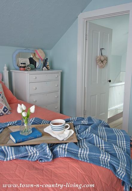 New Bedding in Farmhouse Bedroom