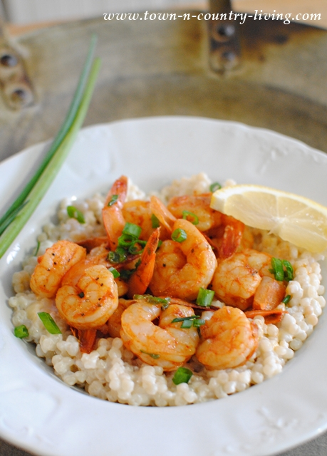 Shrimp with Creamy Couscous. One of the best shrimp recipes ever!