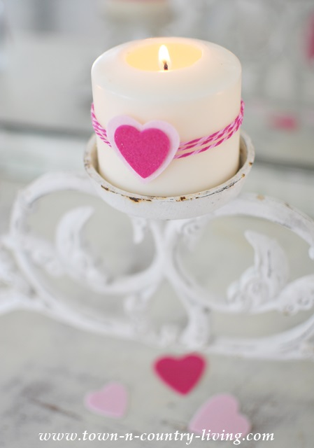 Heart Candle and Other Valentine's Day Projects