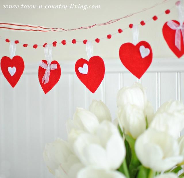 Felt Valentine Heart Banner