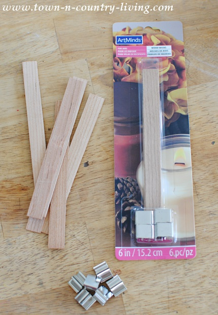 Wood Wicks for Candle Making