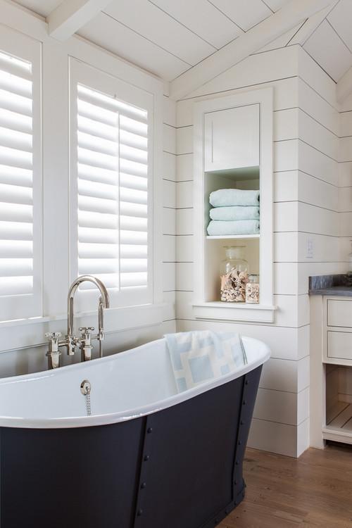 Farmhouse Bathroom with Shiplap