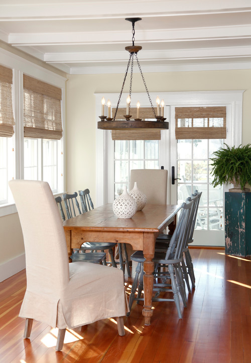 Farmhouse Table Dining Room By Scituate Interior Designers Decorators Gale Michaud Interiors