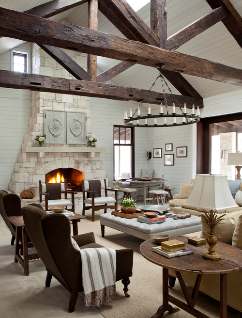 Texas Stone Ranch Charming Home Tour Town Country Living