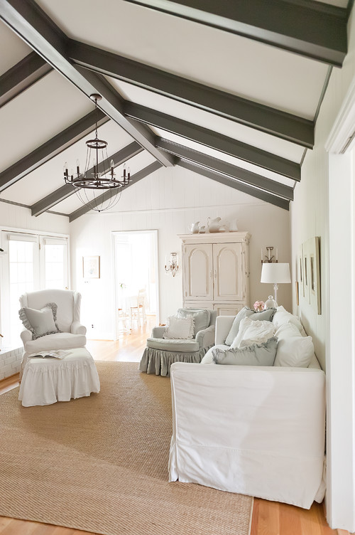 Gray Ceiling Beams