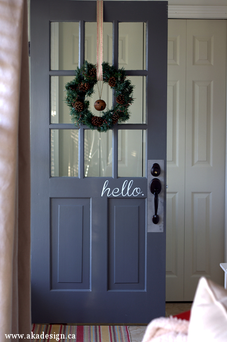 Decorating with Doors. Add a vinyl decal to your door for fun and whimsy. & Decorating with Doors: Inside and Out - Town u0026 Country Living