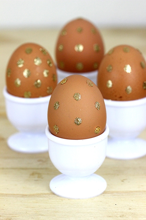 Gold Polka Dot Easter Eggs