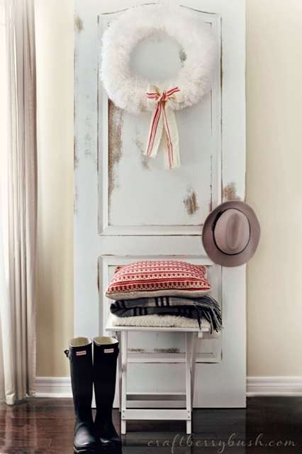 Decorating with Doors. Use them in lieu of wall art.