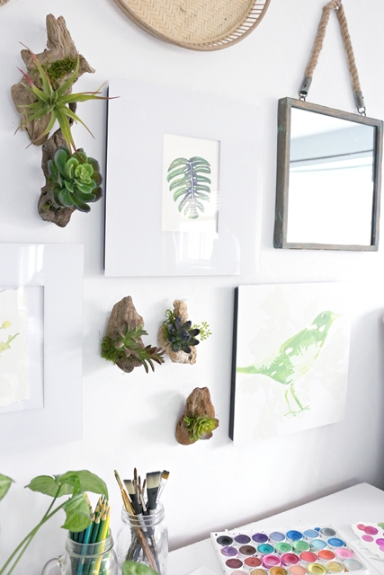 Driftwood Wall Planters