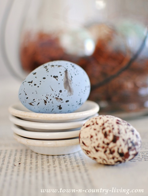 DIY Speckled Eggs