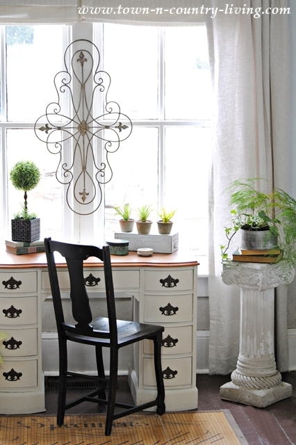 A Living Room Update with Linen Drapes - Town & Country Living