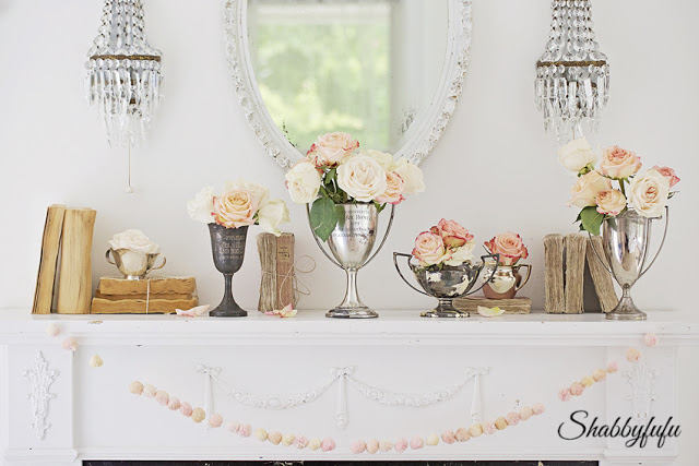 Floral Styling on a Mantel