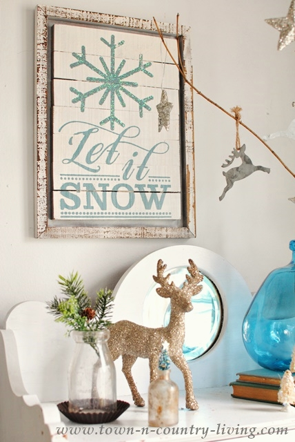 Let It Snow Wall Art, for Winter or Christmas