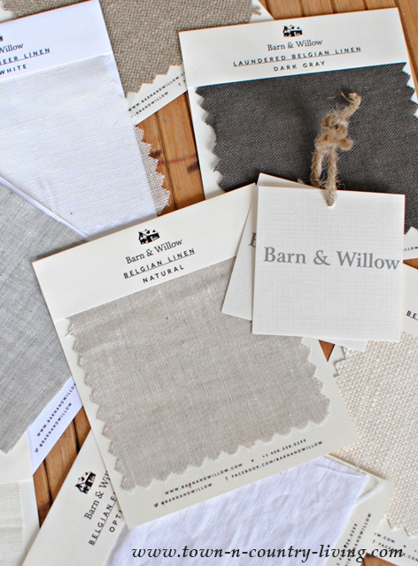 Belgian Linen Drape Samples from Barn and Willow