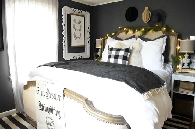 Master Bedroom in Dark Gray