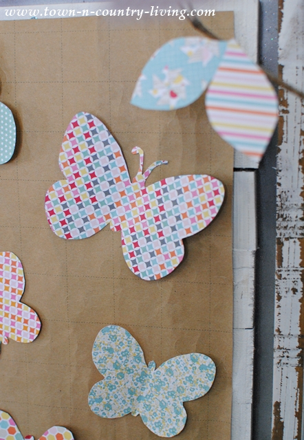 Paper Butterfly Wall Art. An easy craft that anyone can make.