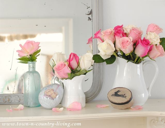 Spring Mantel for Easter