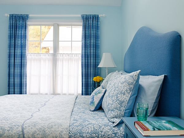 Blue Cottage Style Bedroom
