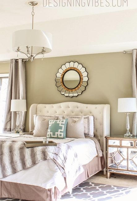 Glamorous Bedroom by Designing Vibes