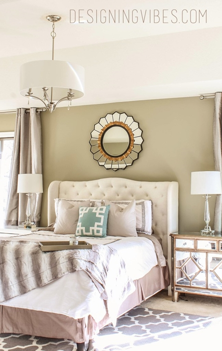 15 bedroom decorating ideas town country living for Glam bedroom ideas