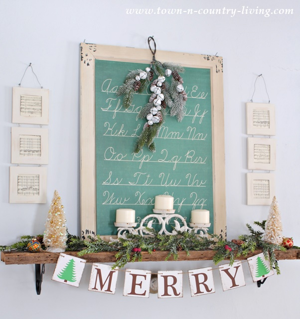 Script Poster for Christmas Mantel