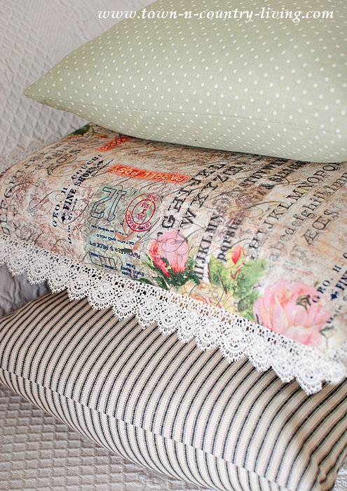 DIY Vintage Style Pillows