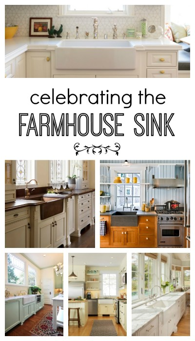 Farmhouse Sink. A variety of examples for your next kitchen project.