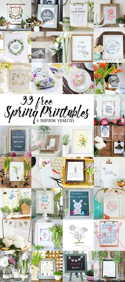 Collection of 33 Spring Printables