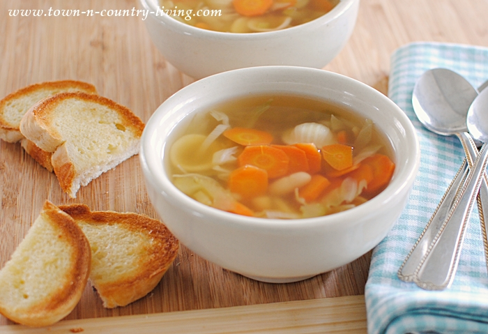 Italian Vegetable Soup with Tiny Shell Pasta and Cannellini Beans
