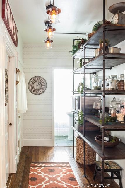Open Shelf Pantry in Old Farmhouse