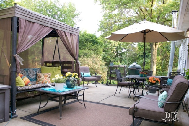 Outdoor Patio with Wrought Iron Furniture