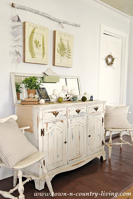 Spring Decorating with Fern Prints