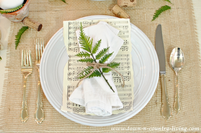 Nature-Inspired Spring Table Setting