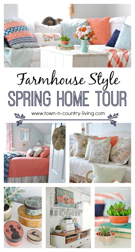 Home Tour. Celebrating Spring with Pops of Coral