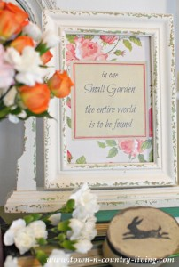 Spring Printable: In One Small Garden