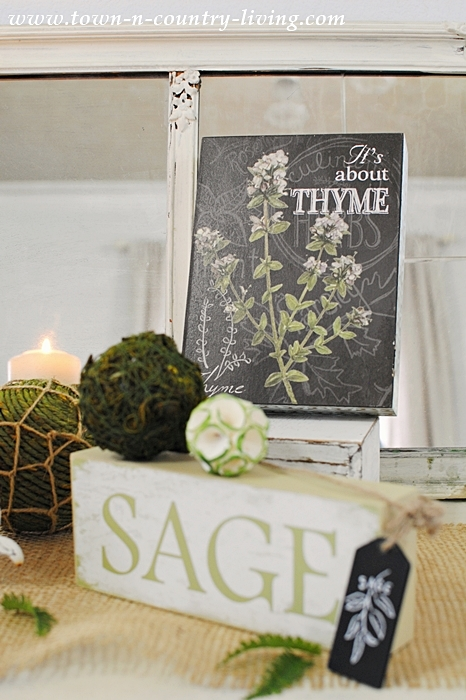 Spring Decorating - A Nature Inspired Theme