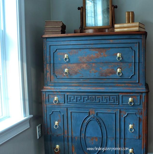 Jamieson Blue Dresser in Milk Paint